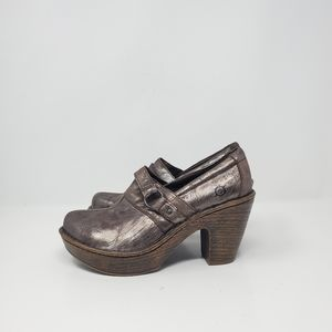 Born brown heeled leather shoes New store display